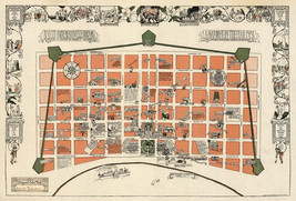 Early Midcentury New Orleans Map la Nouvelle Vintage History Wall Poster... - $12.38