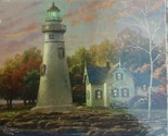 THOMAS KINKADE Painter Of Light 1000 Piece Puzzle w/ old house & lighthouse