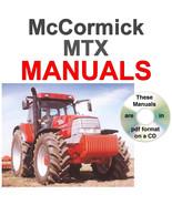 McCormick MTX MTX135 MTX140 MTX150 Tractor Service, Operator Manual + MA... - $24.95