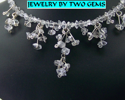 Jewelry By Two Gems (Wn48) Miracle Wire Necklace Brazilian Double Pointed Quartz