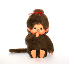 Monchhichi Geek doll with brown fur 1974s  baby... - $19.79
