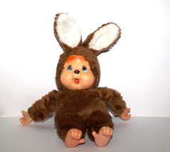 Geek Monchhichi like Rabbit doll with brown fur... - $19.79