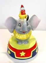 Vintage Schmid Disney Dumbo Elephant Spinning Music Box Plays My Favorit... - $48.70