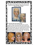 Boudoir Bed Doll Replacement Mohair Wig Marcel Wave Bob Style INSTRUCTIO... - $7.47