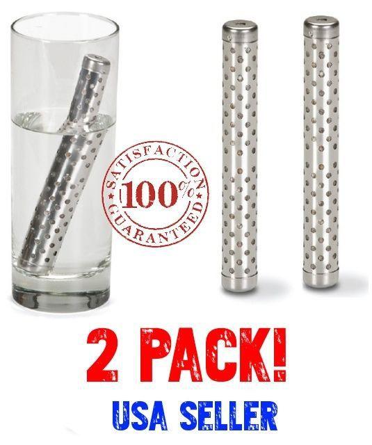 2 Pack ALKALINE Water Stick increase PH Alkalizer Ionizer Hydrogen Minerals Wand