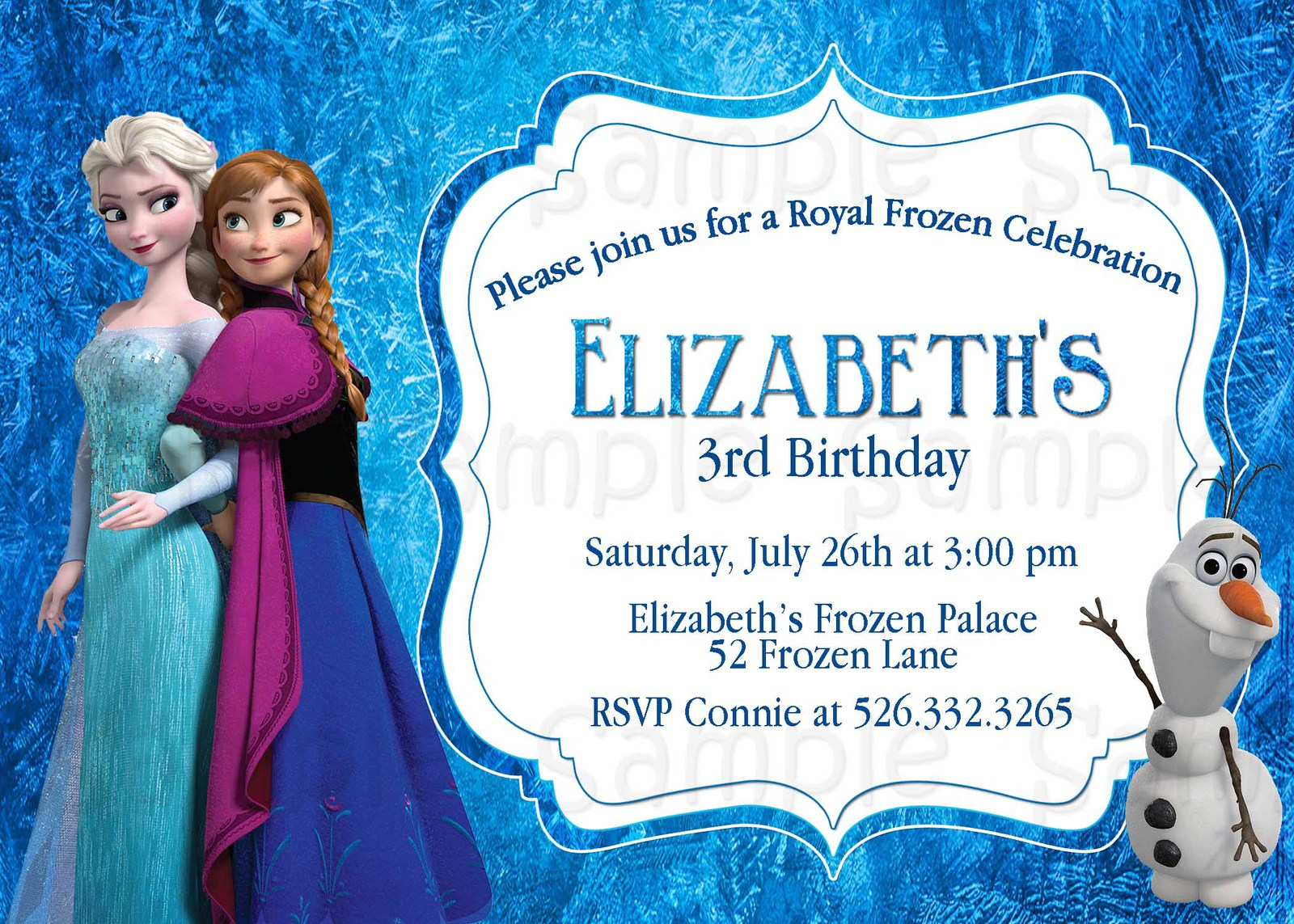 Frozen Birthday - Frozen birthday party invitation template free