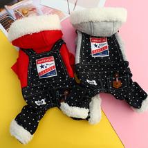 Dog Cat Jumpsuit Hoodie Striped Rabbit With Belt Pet Puppy Coat Jacket W... - $19.00+