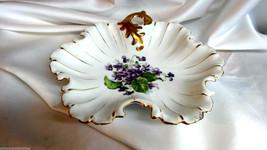 Vintage Napco China Hand Painted Violets Dish o... - $39.50