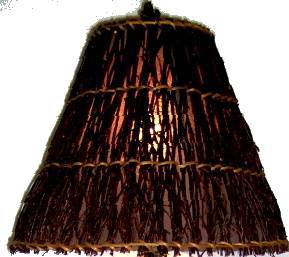 Lamp Tree Trunk Resin Twig Shade Wood Brown