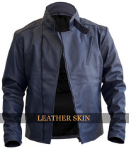 Iron Man Tony Stark Style Bluish Gray Premium Synthetic Leather Jacket Costume - $129.99