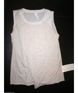 NWT Womens Lululemon New To Class Tee Top Shirt 10 Khaki Heather White Y... - $64.00