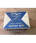JC Higgins No Back-Lash Level Winding Casting Fishing Reel & Original Bo... - $57.94