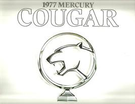 1977 Mercury COUGAR sales brochure catalog US 77 XR-7 XR7 - $8.00