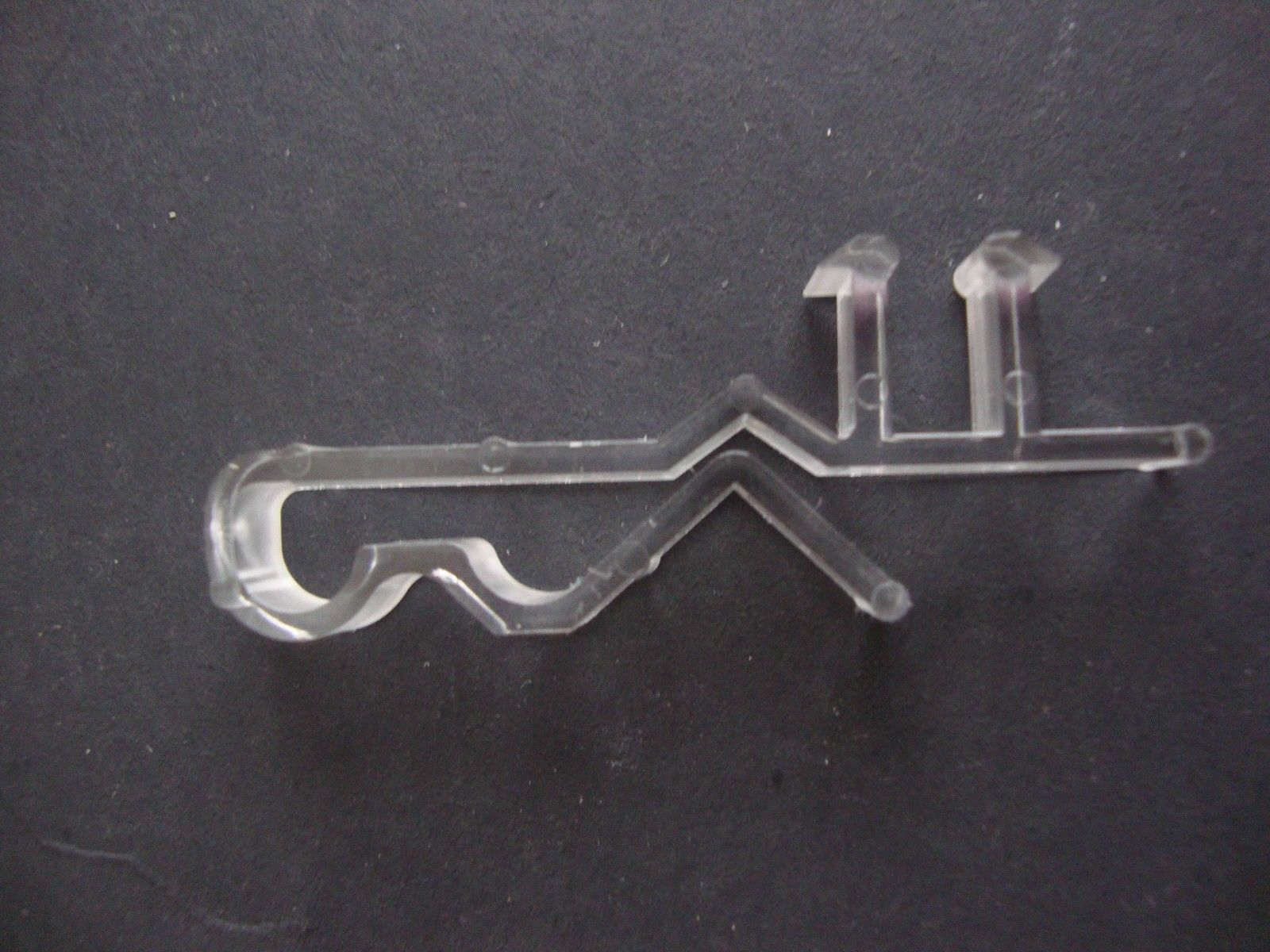 Hidden Valance Clips, For horizontal Blinds, Pack of 10, Clear