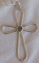 Flower sahpe silver Cross 1 - $25.00