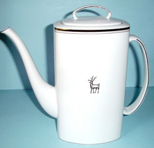 Kate Spade Donner Road Coffee Pot Platinum Reindeer by Lenox New in Box - $114.90