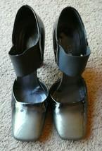 Prada 36.5 ombre black gray shoes sandals designer - $148.49