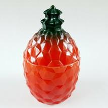 Vintage Hazel Atlas Pineapple Jam Jelly Jar Milk Glass 1930s 1940s - $149.99