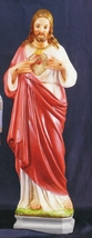 Sacred Heart - 24 inch - Colored Concrete Statue - $349.95