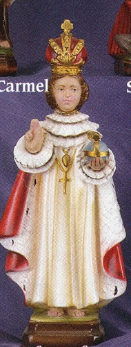Infant of prague  decorated statue