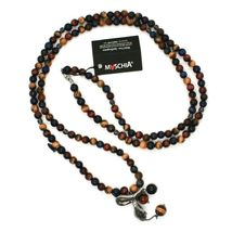 925 STERLING SILVER NECKLACE WITH SNAKE AND TIGER'S EYE MADE IN ITALY BY MASCHIA image 3