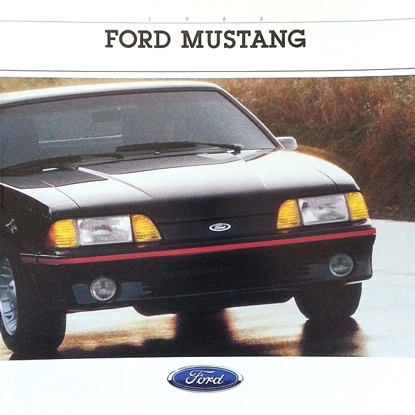 Primary image for 1988 Ford MUSTANG sales brochure catalog US 88 LX GT 5.0