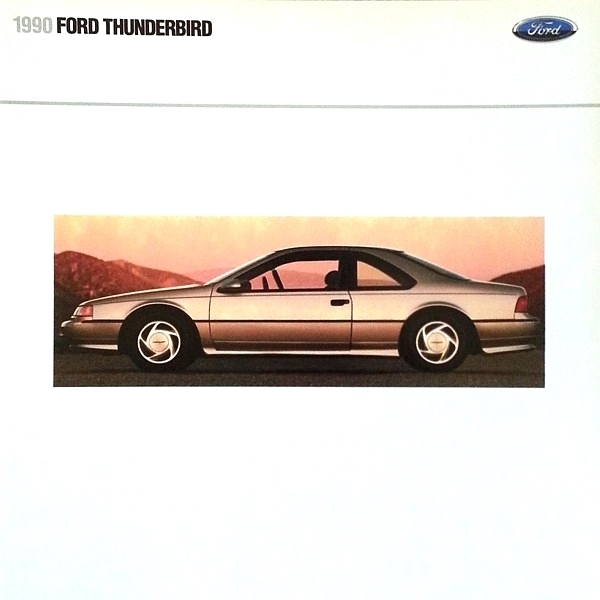 Primary image for 1990 Ford THUNDERBIRD sales brochure catalog US 90 LX SC Super Coupe