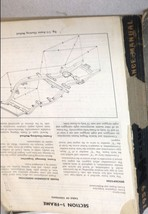 1959 Ford Mercury Maintenance Service Shop Repair Manual MISSING PAGES WORN - $25.28
