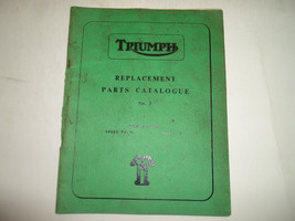 1961 Triumph Replacement Parts Catalog Twenty One Speed Twin Tiger 100 No.3 - $29.65