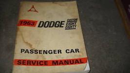 1963 Dodge Custom Eight Eighty 88 Service Shop Repair Workshop Manual OEM - $19.79