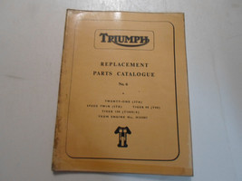 1966 Triumph Replacement Parts Catalog No.6 3TA 5TA T90 T100S/S FACTORY ... - $38.56