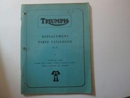 1967 Triumph Replacement Parts Catalogue No. 8 TRIUMPH 67 Engine No. H49... - $24.70