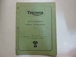1968 Triumph Replacement Parts Catalogue No. 9 Tiger 90 Tiger 100 TRIUMP... - $34.60