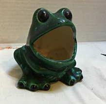 Vintage Retro BIG MOUTH FROG Kitchen Sponge Caddy // Flower/Herb Pot - $10.99