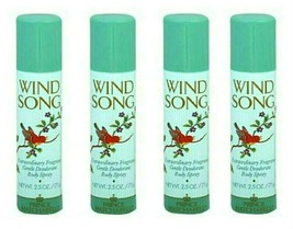 ( LOT 4 ) Wind Song for Women by Prince Matchabelli Body Spray 2.5oz Ea ... - $29.69