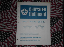 1971 Chrysler Outboard 12.9 HP Parts Catalog 122 123 HC - $15.83