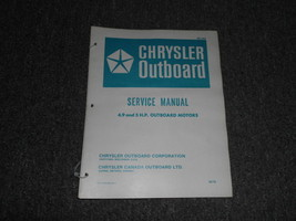 1972 Chrysler Outboard 4.9 5 HP Service Manual - $19.79