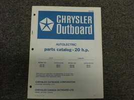1972 Chrysler Outboard 20 HP Parts Catalog Autolectric - $19.79