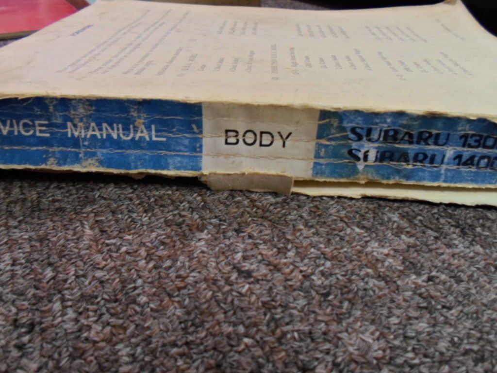 1972 Subaru 1300 1400 Body Service Repair Shop Manual FACTORY OEM BOOK 72