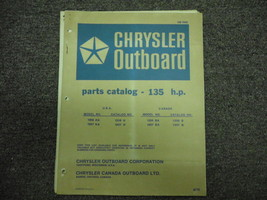 1973 Chrysler Outboard 135 HP Parts Catalog - $19.79