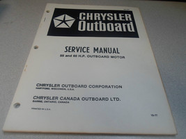 1978 Chrysler Outboard Service Manual 55 60 Outboard Motor OB 2707 OEM B... - $69.29