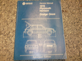 1978 Dodge Omni  Plymouth Horizon Service Shop Repair Manual Advanced Edition - $9.57