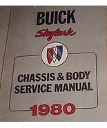 1980 Buick Skylark Chassis Body Service Shop Repair Manual FACTORY DEALE... - $53.99