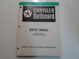 1981 Chrysler Outboard Service Manual 35 45 Hp Motors Oem Stained Factory Deal - $14.25