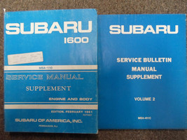 1981 Subaru 1600 Service Repair Shop Manual Supplement Set Factory Oem Books 81 - $29.65