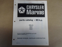 1982 Chrysler Marine Parts Catalog 85 HP OB3851 OEM Boat 82 - $19.75