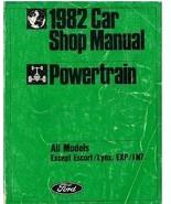 1982 Ford MUSTANG POWERTRAIN Repair Service Shop Manual DEALERSHIP OEM NICE - $14.80