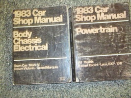 1983 Ford Mercury Grand Marquis Service Repair Shop Manual SET W Powertr... - $88.10