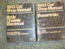 1983 FORD LINCOLN TOWN CAR Service Shop Repair Manual SET X 2 BOOKS - $79.20