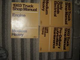 1983 FORD F&B 700 800 900 Medium Heavy Truck Service Shop Repair Manual Set - $128.65